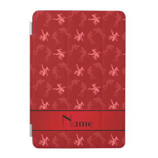 Personalized name red wrestlers iPad mini cover