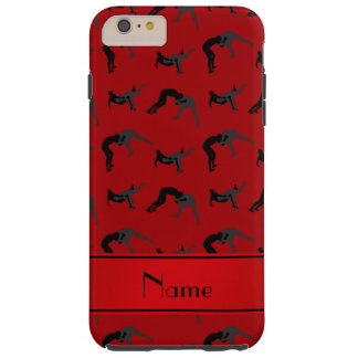 Personalized name red wrestling silhouettes tough iPhone 6 plus case