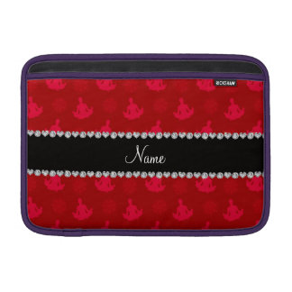 Personalized name red yoga pattern MacBook air sleeves