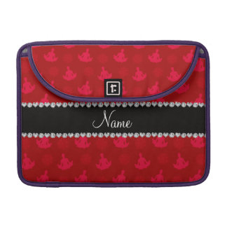 Personalized name red yoga pattern sleeves for MacBooks