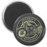 Personalized NAME Retro Military Motorcycle Biker Magnet