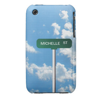 Personalized Name Road Street Sign on Blue Sky iPhone 3 Case-Mate Case