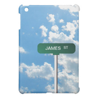Personalized Name Road Street Sign on Blue Sky iPad Mini Case