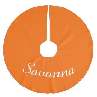 Personalized Name Safety Orange Holiday Christmas Brushed Polyester Tree Skirt