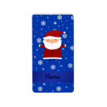 Personalized name santa blue snowflakes personalized address labels
