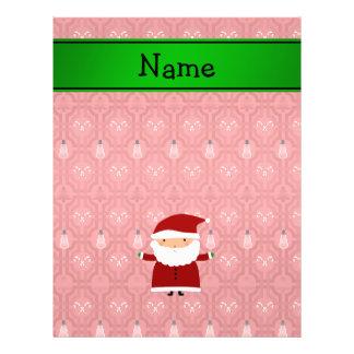 "Personalized name santa red snowman trellis 8.5"" x 11"" flyer"