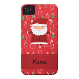 Personalized name santa red snowmen iPhone 4 Case-Mate case
