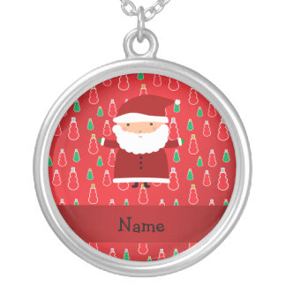 Personalized name santa red snowmen jewelry