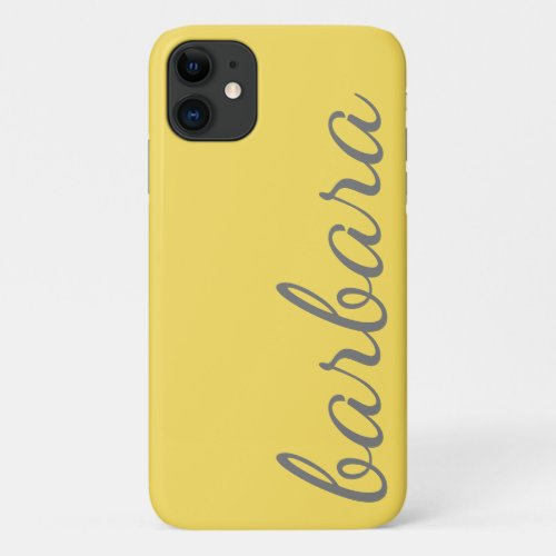 Personalized Name, Script, Yellow/Grey Case-Mate  Phone Case