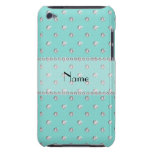 Personalized name seafoam green diamonds iPod touch Case-Mate case