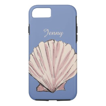 Beach Themed Personalized Name Seashell iPhone 7 Case