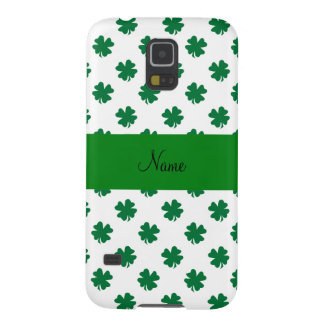 Personalized name shamrocks case for galaxy s5