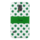 Personalized name shamrocks galaxy s5 cases