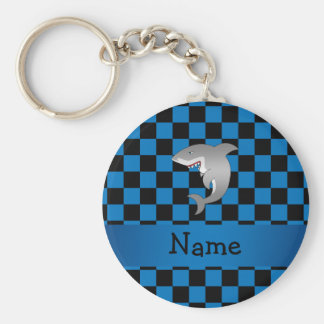 Personalized name shark keychain