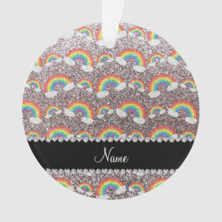 Personalized name silver glitter rainbows