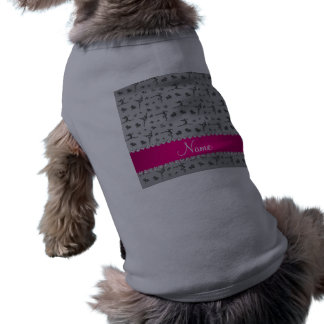 Personalized name silver gymnastics pet t-shirt