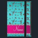 """Personalized name silver turquoise gymnastics iPad mini case<br><div class=""""desc"""">Modern, girly, chic and trendy Custom name turquoise silver (not real silver) gymnastics pattern with gymnast silhouettes stars, hearts and ribbon bows background and with pretty pink diamonds (faux not real diamonds) with sparkly hearts and dots stripe personalized with just add your name gifts or monogram gifts or your initials...</div>"""