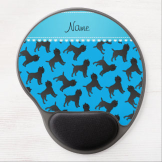 Personalized name sky blue affenpinscher dogs gel mouse pad