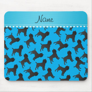 Personalized name sky blue affenpinscher dogs mouse pad