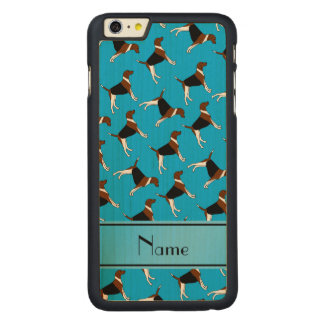 Personalized name sky blue american foxhound dogs carved® maple iPhone 6 plus case