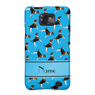 Personalized name sky blue american foxhound dogs galaxy s2 covers