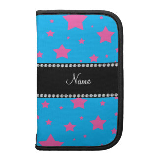 Personalized name sky blue and Pink stars Planners