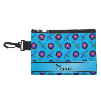 Personalized name sky blue archery accessories bag