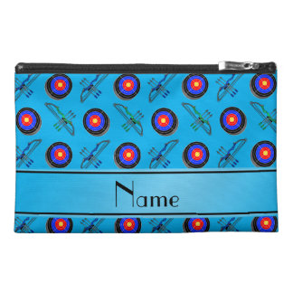 Personalized name sky blue archery travel accessory bags