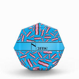 Personalized name sky blue bacon pattern acrylic award