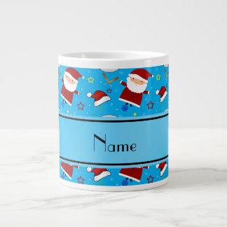 Personalized name sky blue baseball christmas 20 oz large ceramic coffee mug