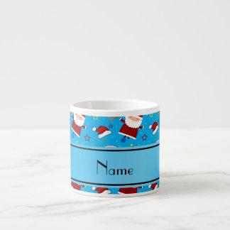 Personalized name sky blue baseball christmas 6 oz ceramic espresso cup