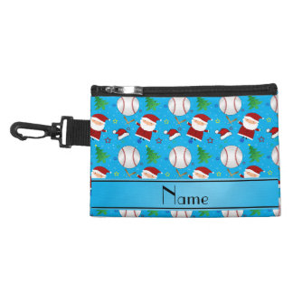 Personalized name sky blue baseball christmas accessories bags