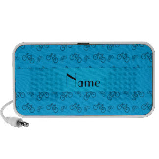 Personalized name sky blue bicycle pattern notebook speakers