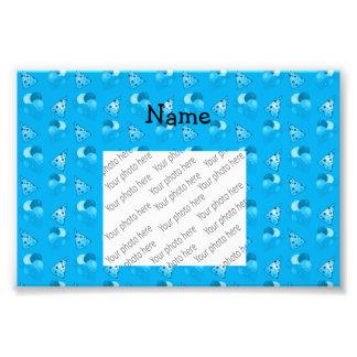 Personalized name sky blue birthday pattern art photo