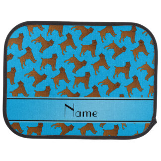 Personalized name sky blue brussels griffon dogs car floor mat
