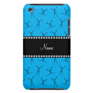 Personalized name sky blue cheerleader pattern barely there iPod cover