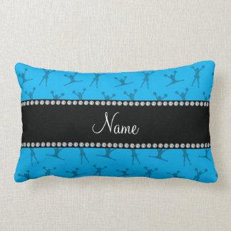 Personalized name sky blue cheerleader pattern lumbar pillow