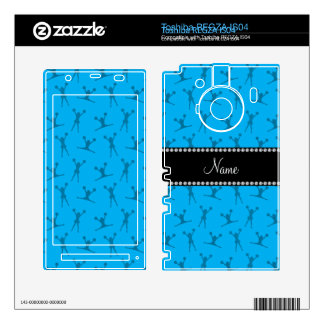 Personalized name sky blue cheerleader pattern toshiba REGZA decals