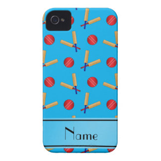 Personalized name sky blue cricket pattern iPhone 4 covers
