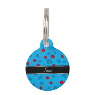 Personalized name sky blue crochet pattern pet name tag