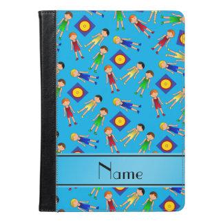 Personalized name sky blue cute boy wrestlers mat iPad air case
