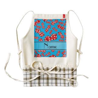 Personalized name sky blue dice pattern zazzle HEART apron