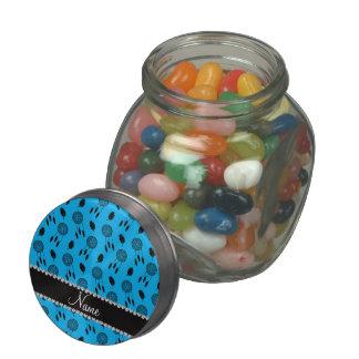 Personalized name sky blue dreamcatchers glass jar