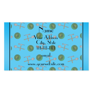 Personalized name sky blue gold mining Double-Sided standard business cards (Pack of 100)