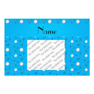 Personalized name sky blue golf balls photograph
