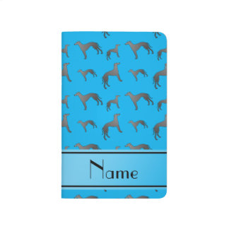 Personalized name sky blue Greyhound dogs Journal