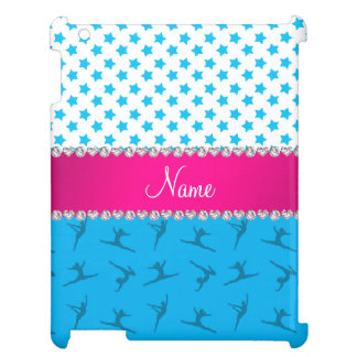 Personalized name sky blue gymnastics blue stars iPad cover