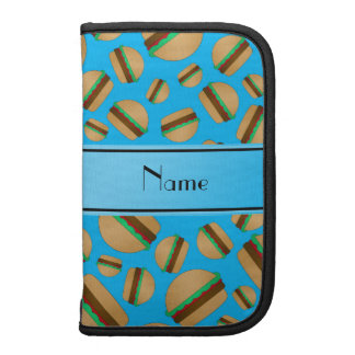 Personalized name sky blue hamburgers organizer