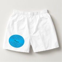 Personalized name sky blue hockey pattern boxers