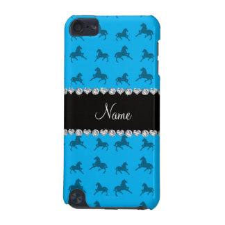 Personalized name sky blue horse pattern iPod touch (5th generation) case